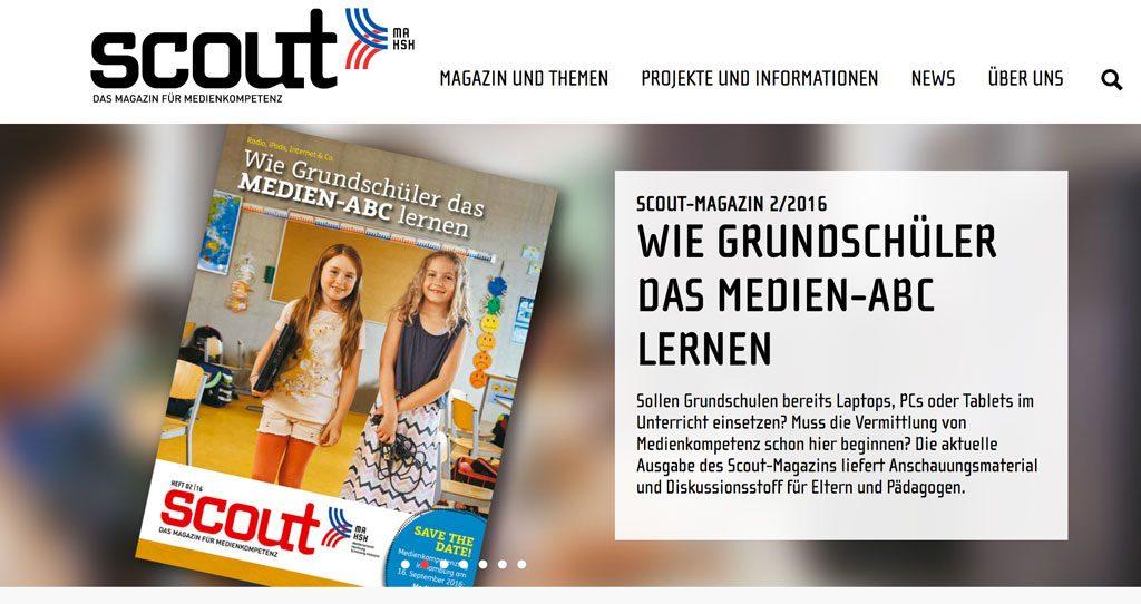 Scout Magazin 2/2016: Wie Grundschüler das Medien-ABC lernen